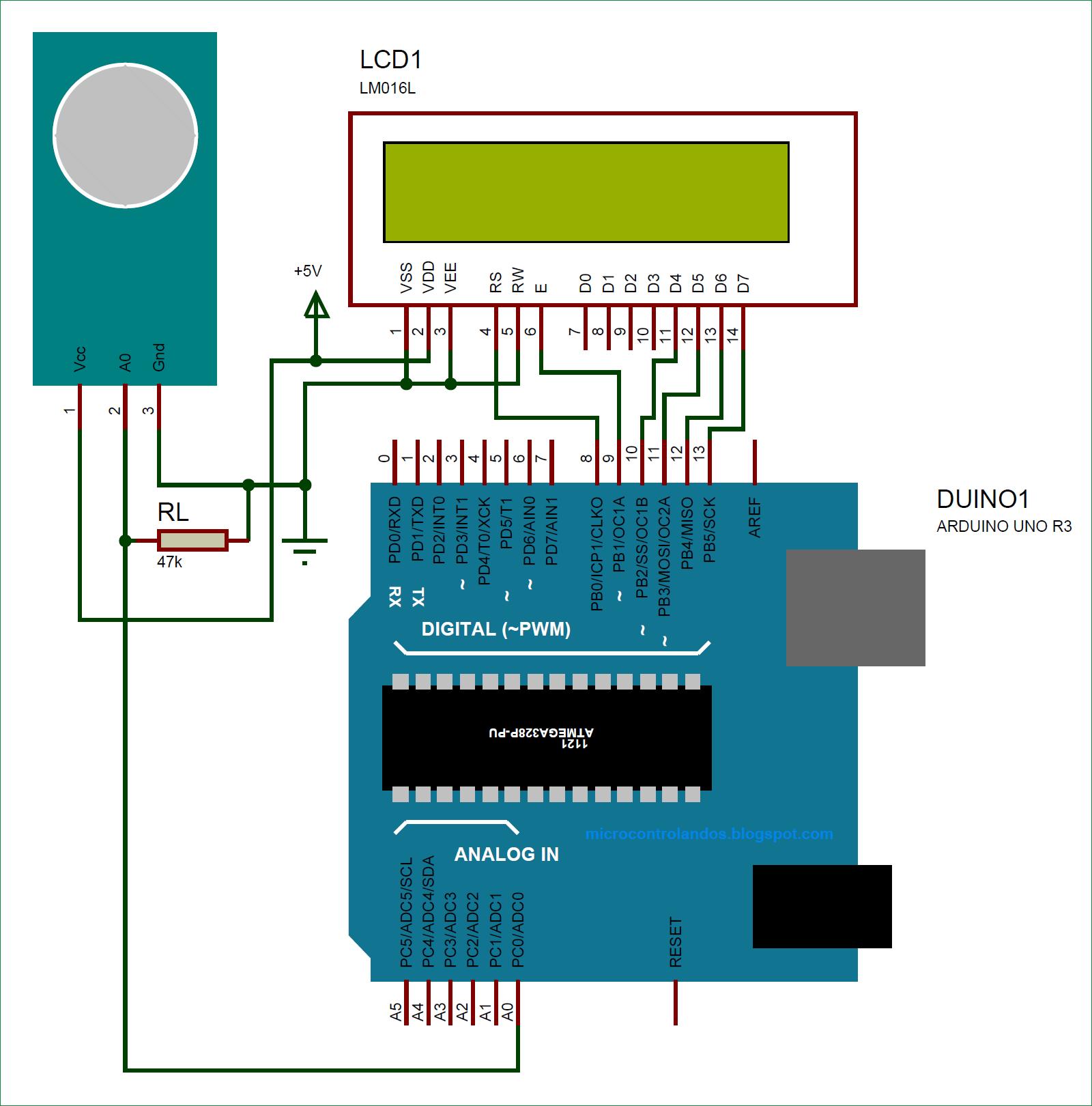Схема для измерения уровня аммиака в воздухе с помощью датчика газа MQ-137 и Arduino