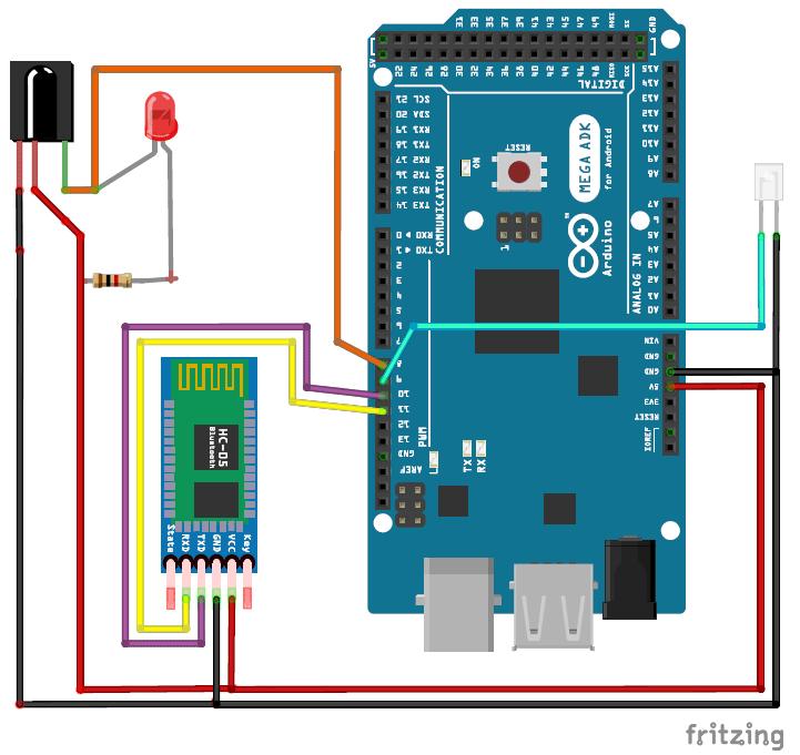 Схема пульта управления кондиционером на основе Arduino и смартфона