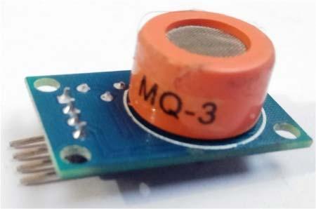 Внешний вид датчика газов и алкоголя MQ3