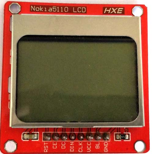 Внешний вид ЖК дисплея Nokia 5110