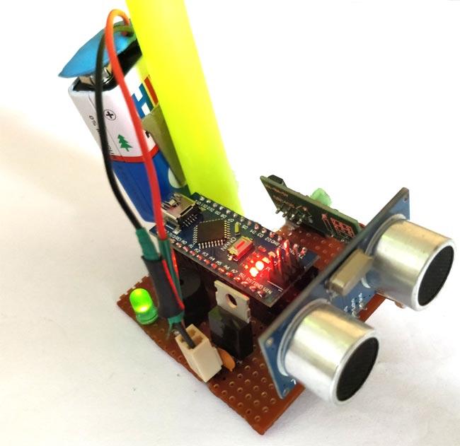 Внешний вид умной трости для слабовидящих людей на основе Arduino