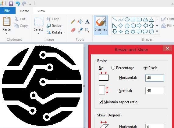 Изменение размеров изображения в редакторе Paint