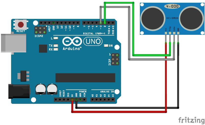 Принципиальная схема проекта взаимодействия VPython и Arduino