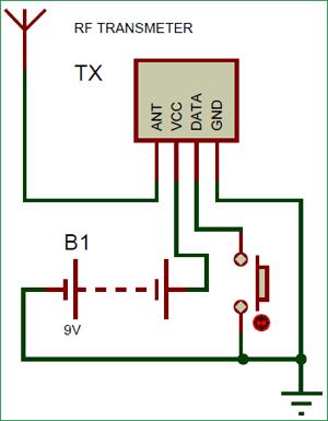 Схема передающей части умной трости для слабовидящих людей на основе Arduino