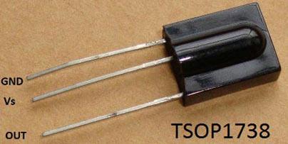 Внешний вид инфракрасного приемника TSOP1738