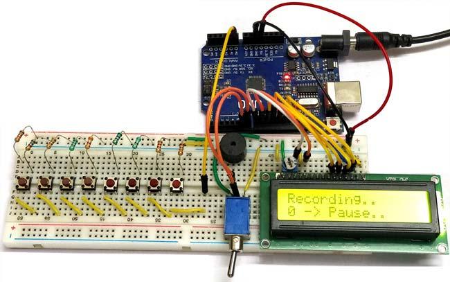Внешний пианино на основе платы Arduino