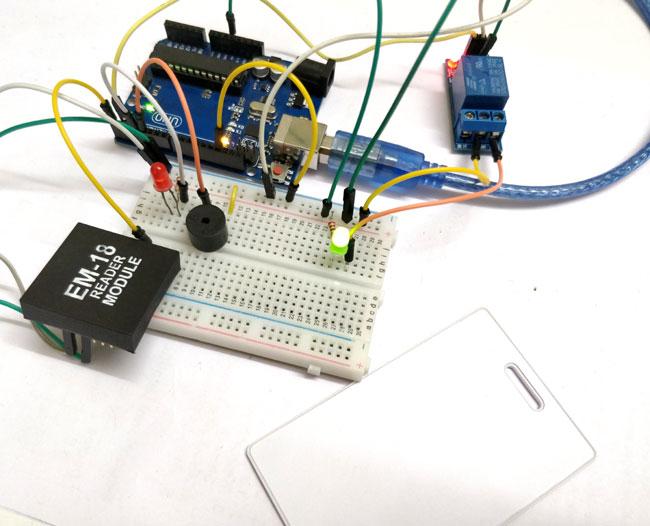Тестирование работы проекта электронного замка