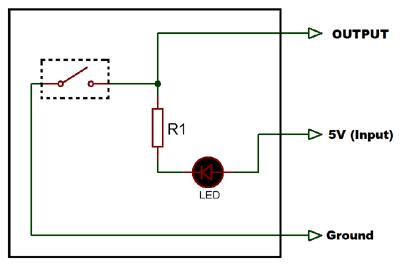 Внутренняя схема соединений датчика наклона
