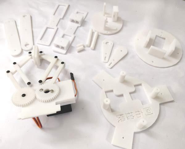 Напечатанные компоненты роботизированной руки