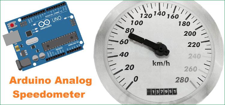 Внешний вид аналогового спидометра на основе Arduino и инфракрасного датчика