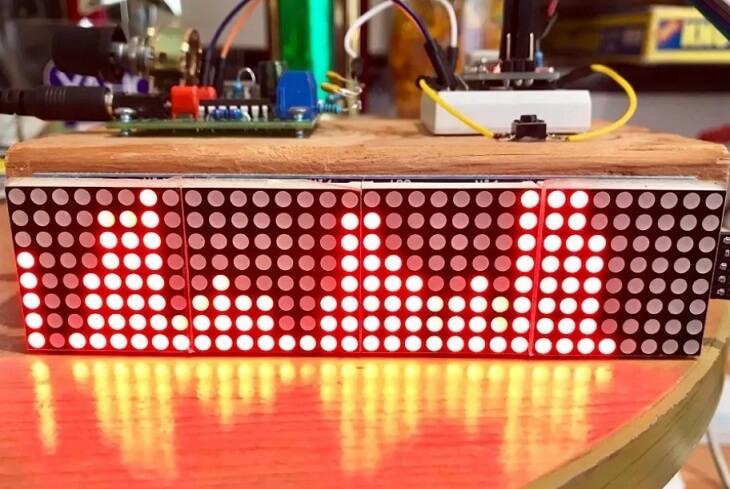 Внешний вид анализатора-визуализатора спектра звуковых частот на Arduino