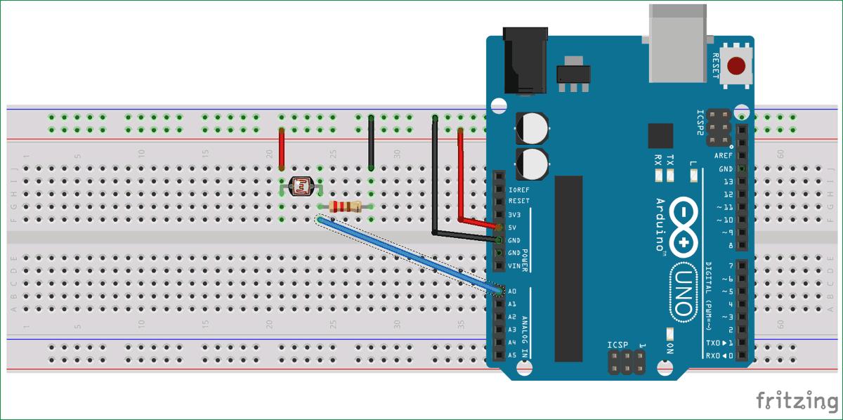 Схема осциллографа на основе платы Arduino