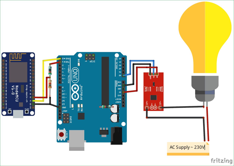 Схема измерителя электроэнергии на основе ESP12 и Arduino