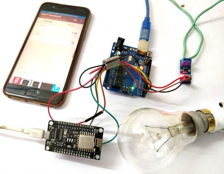 Внешний вид умного измерителя электроэнергии на ESP12 и Arduino