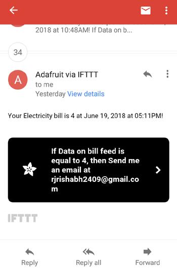 Примерный вид полученного email