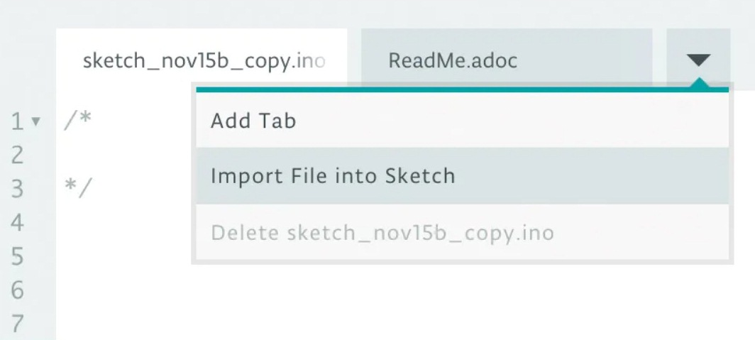 Добавление новых файлов в проект