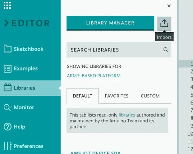 Добавление собственных библиотек в Arduino Web Editor