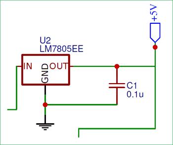 Регулятор напряжения на основе микросхемы 7805