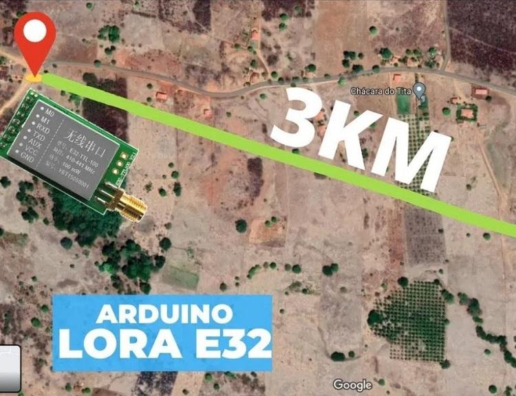 Внешний вид проекта по взаимодействию плат Arduino с модулями Lora E32