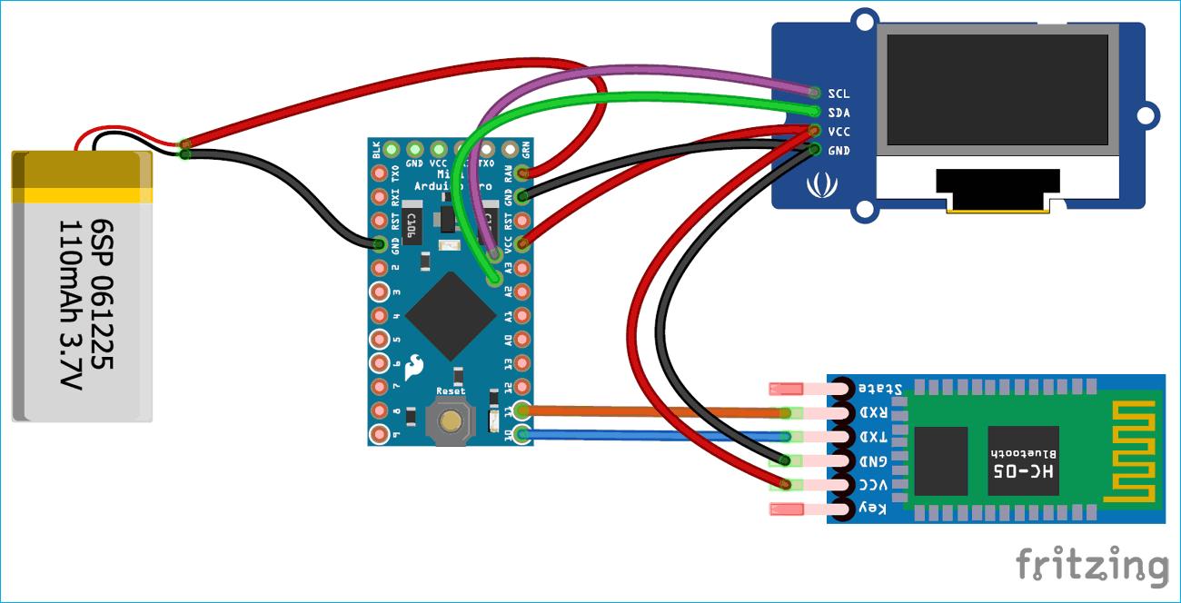 Схема проекта умных часов на основе платы Arduino