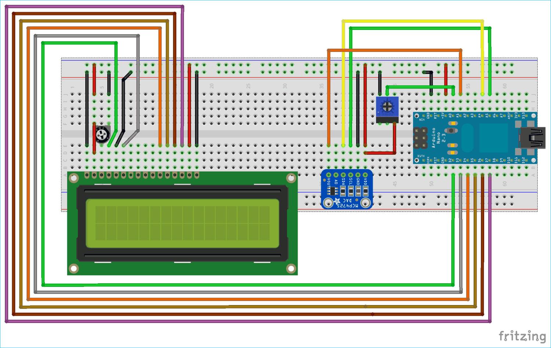 Схема подключения цифро-аналогового преобразователя (ЦАП) MCP4725 к плате Arduino