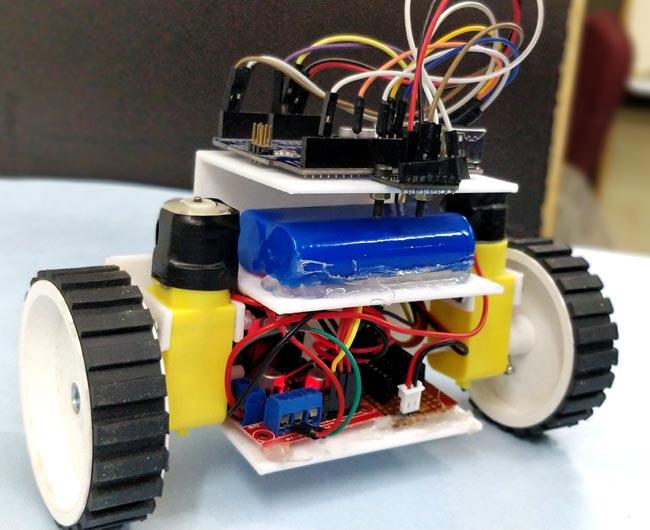 Альтернативная конструкция самобалансирующегося робота