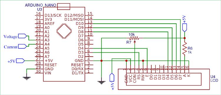 Блок вычислений и отображения информации в проекте ваттметра на Arduino