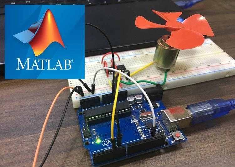 Внешний вид проекта управления электродвигателем постоянного тока с помощью MATLAB и Arduino