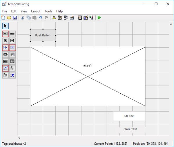 Размещение в графическом редакторе элементов для нашего проекта