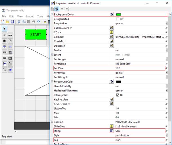 Окно для редактирования параметров графических элементов