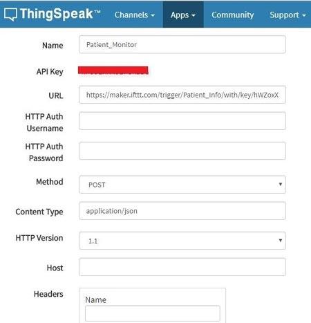 Заполнение данных в ThingHTTP