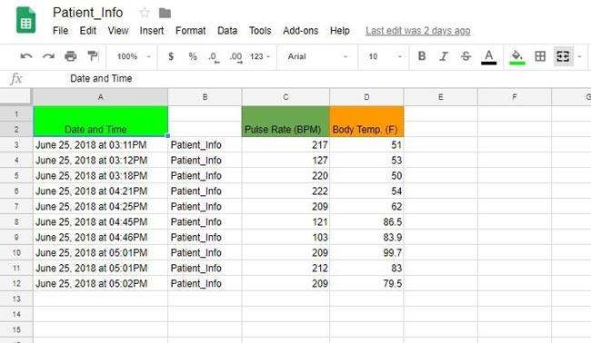 Обновление данных в Google sheets