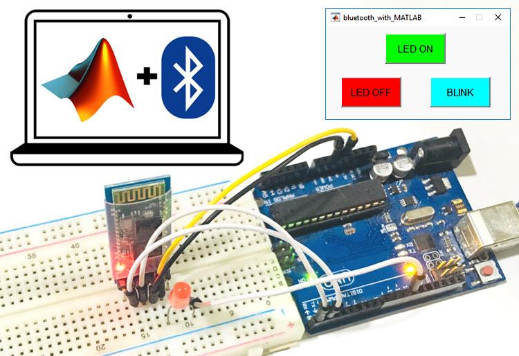 Внешний вид проекта по использованию Bluetooth для беспроводной связи между MATLAB и Arduino