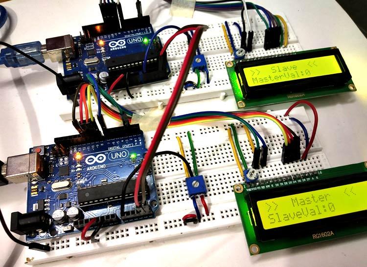 Внешний вид проекта использования интерфейса I2C в Arduino