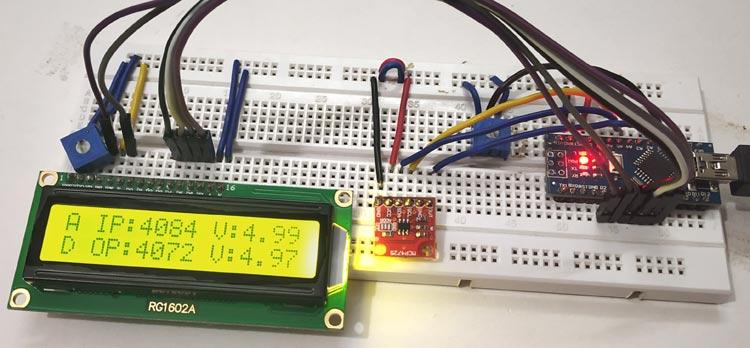 Подключение цифро-аналогового преобразователя (ЦАП) MCP4725 к Arduino - внешний вид конструкции