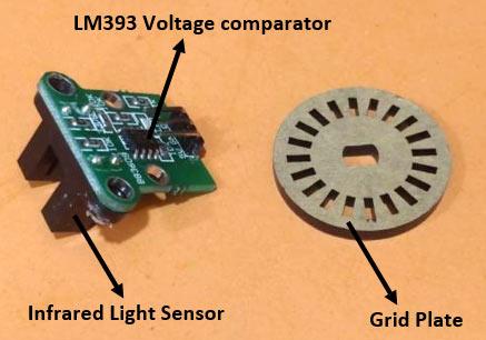 Внешний вид датчика скорости LM393 (H206)