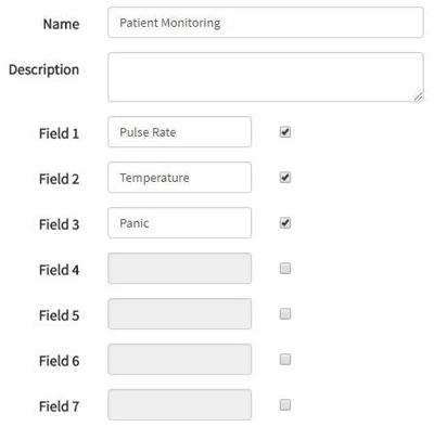 Форма для нового канала в сервисе ThingSpeak