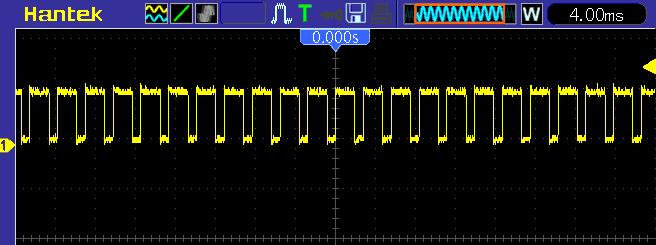Вид сформированного нашим генератором прямоугольного сигнала