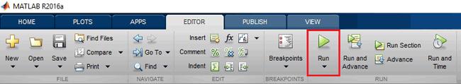 Запуск на выполнение .m файла в Matlab