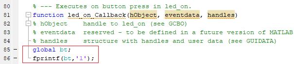 """Код программы для передачи """"1"""" с помощью Bluetooth"""