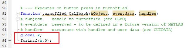 Код программы Matlab для передачи символа '0' по последовательному каналу связи