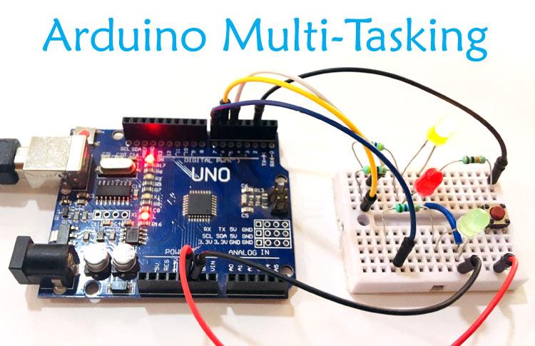 Внешний вид проекта для реализации многозадачности в Arduino