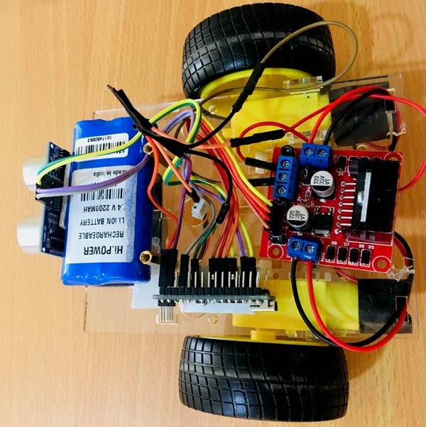 Внешний вид собранной конструкции робота