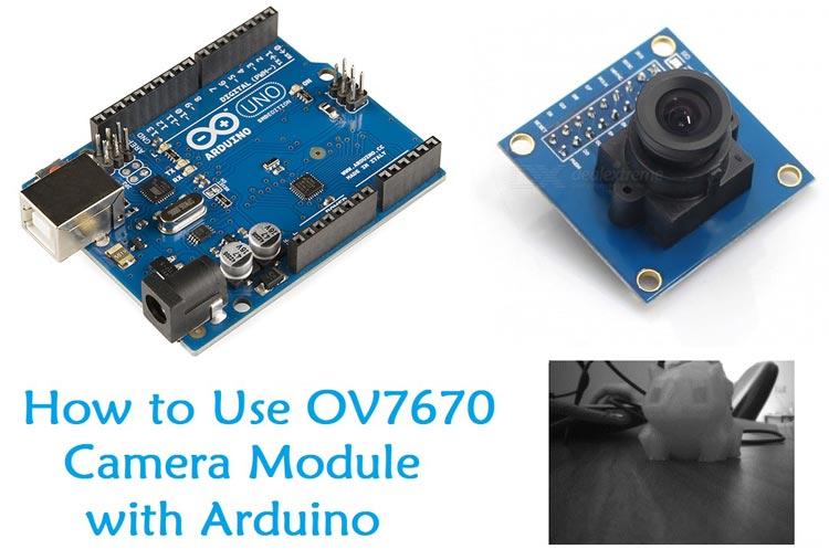 Внешний вид проекта подключения камеры OV7670 к Arduino Uno