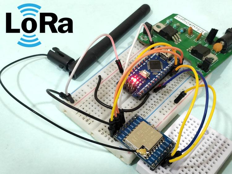 Внешний вид проекта по подключению модуля LoRa SX1278 к плате Arduino