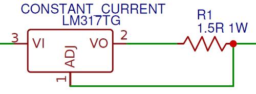 Схема регулятора тока на микросхеме LM317