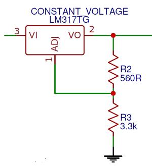 Схема регулятора напряжения на микросхеме LM317