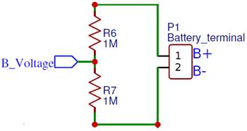 Принцип измерения напряжения на литиевой батарее с помощью делителя напряжения