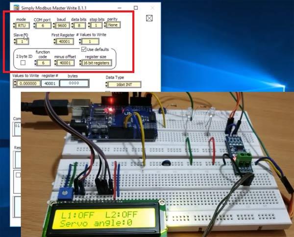 Установка параметров передачи данных в программе Simply Modbus Master