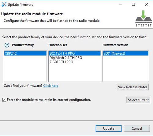 Установка параметров прошивки модуля XBee в XCTU